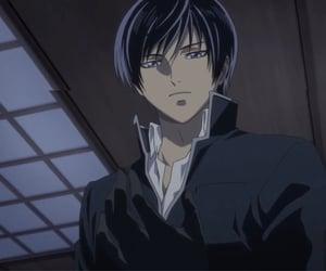 anime, black, and rei image