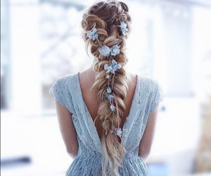 hair, dress, and fashion image