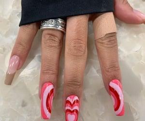nails, acrylic, and inspo image