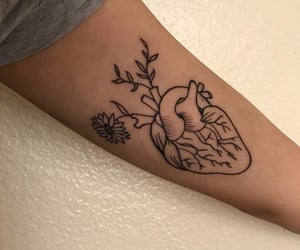 heart tattoo, ideas, and tattoo heart image