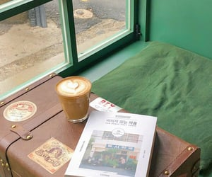 beige, book, and cafe image