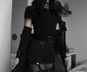 fashion, black, and aesthetic image