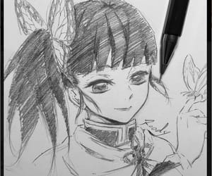drawing, pretty, and anime gir image