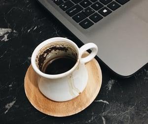 laptop, study, and turkish coffee image