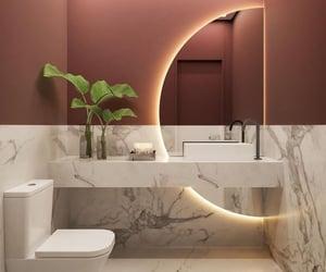 bathroom, interior, and light image