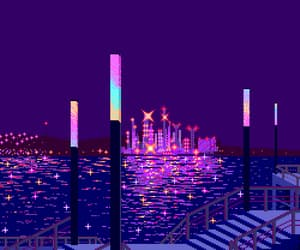 city, violet, and aesthetic image
