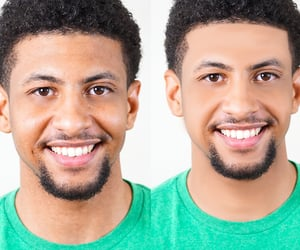 color correction, background remove, and photo retouching image