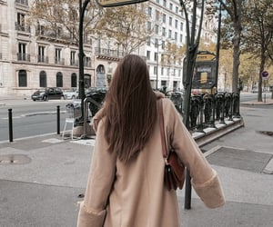 beige, brunette, and fall image