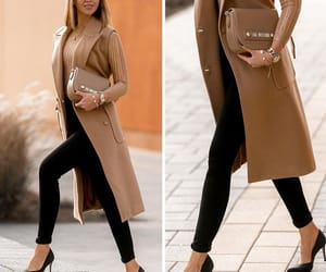camel, classy, and coat image