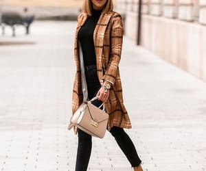 beige, checked, and coat image