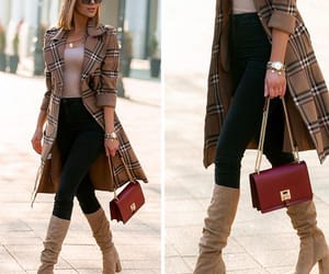 beige, boots, and coat image