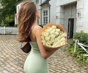 fashion, flowers, and dress image