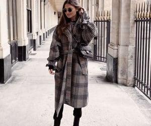 aesthetic, brunnette, and coat image