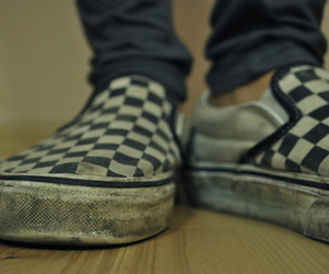 checkered, shoes, and vans image