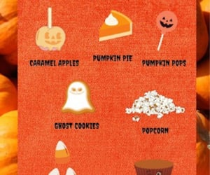 candy corn, Pumpkin Pie, and peanut butter cups image