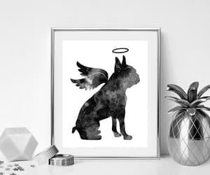 boston terrier, dog art print, and memorial gift image