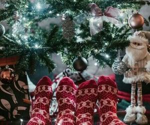 aesthetic, christmas tree, and snow image