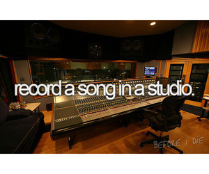 before i die, studio, and record image
