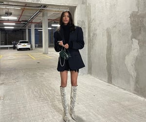 knee high boots, everyday look, and turtleneck sweater image