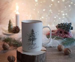 coffee, Christmas time, and cup image