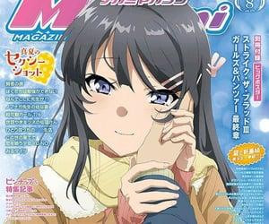 mai, bunny girl senpai, and anime image