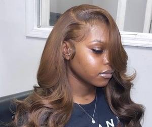 brown, hair, and melanin image