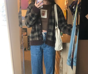 outfit, style, and cardigan image
