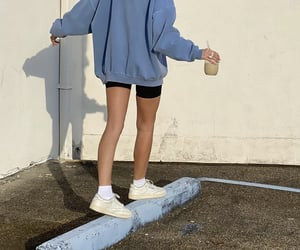 blue sweater, everyday life, and everyday look image