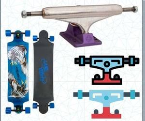 cruising, skateboard, and skateboarding image