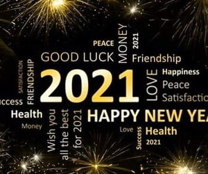 happy new year, healthy, and wishes image