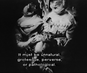 perverse, grotesque, and pathological image