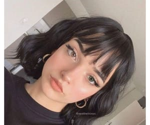 black hair, hairstyle, and hair inspo image