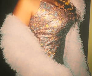 dress, fur, and party image