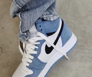 blue, sneakers, and nike image