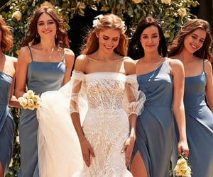 beauty, bridesmaids, and fashion image