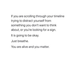alive, distract, and breath image