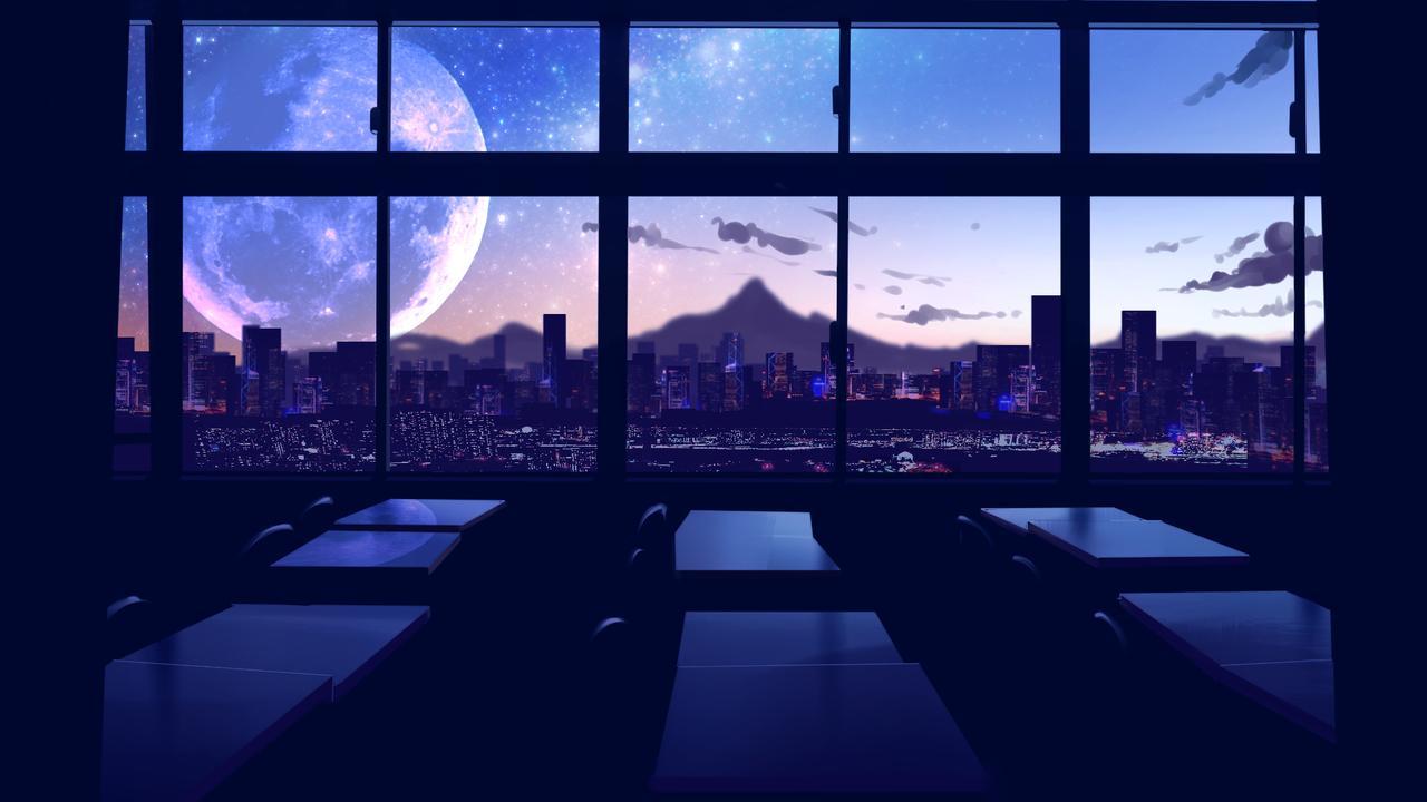 art, dim, and moon image