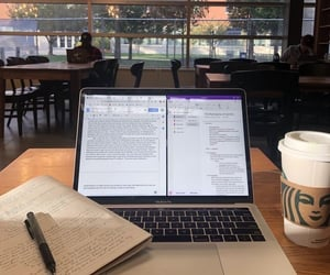coffee, college, and work image