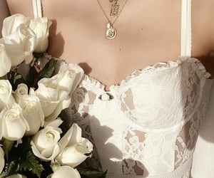 accessories, bouquet, and dresses image