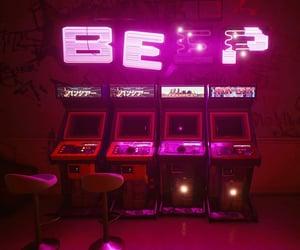 arcade, cyberpunk, and graffiti image