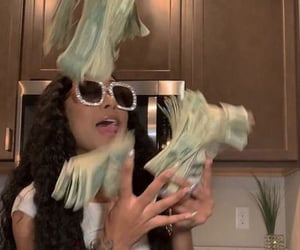 cash, female, and goofy image