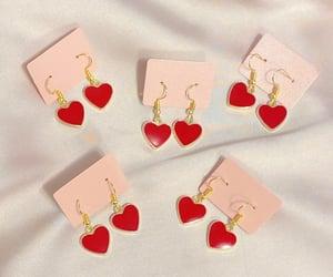 earrings, hearts, and mood image