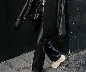 black jacket, blogger, and chanel image