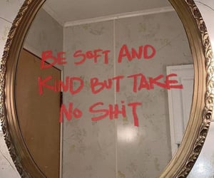 quotes, mirror, and lipstick image