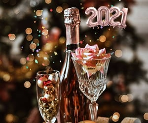 happy new year, new year, and pink image