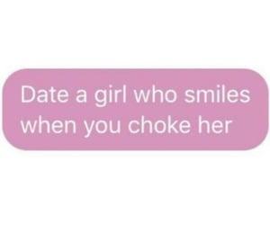 choking, dating, and girl image