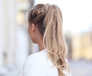 braid, hair, and ponytail image