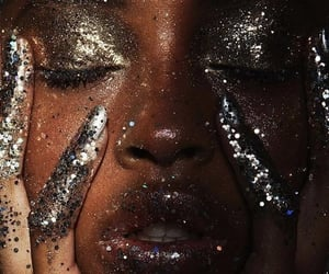 glitter, model, and makeup image