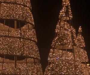 aesthetic, christmas, and citylights image