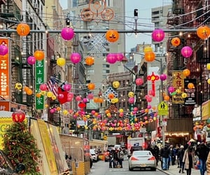 celebrate, chinatown, and christmas image